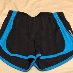 Reebok black trimmed in blue shorts